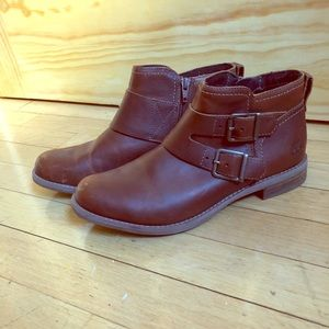Brown Timberland Leather Ankle Boots